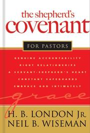 Cover of: The Shepherd's Covenant for Pastors