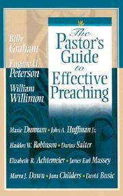 Cover of: The Pastor's Guide to Effective Preaching