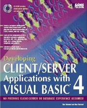 Cover of: Developing client/server applications with Visual Basic 4