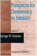 Cover of: Prospects for Democracy in Mexico