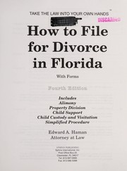 Cover of: How to file for divorce in Florida: with forms