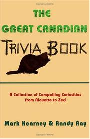 Cover of: The Great Canadian Trivia Book