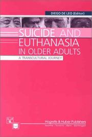 Cover of: Suicide and Euthanasia in Older Adults