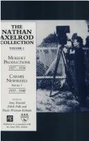 Cover of: The Nathan Axelrod Collection: Moledet Productions 1927-1934