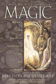 Cover of: Introduction to Magic: Rituals and Practical Techniques for the Magus