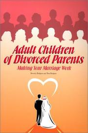 Cover of: Adult Children of Divorced Parents