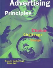 Cover of: Advertising Principles