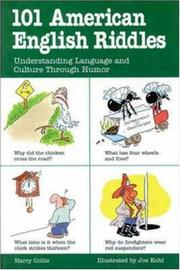 Cover of: 101 American English riddles