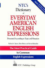 Cover of: Ntc's Dictionary of Everyday American English Expressions