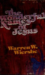 Cover Of The Wonderful Names Jesus