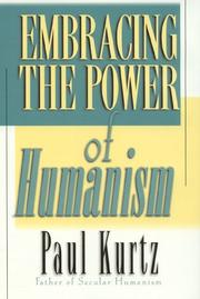 Cover of: Embracing the Power of Humanism