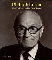 Cover of: Philip Johnson