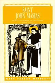 Cover of: Saint John Masias