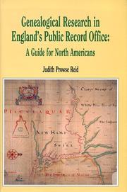 Cover of: Genealogical research in England's Public Record Office