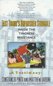 Cover of: East Timor's Unfinished Struggle