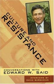 Cover of: Culture and Resistance: Conversations With Edward W. Said