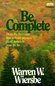 Cover of: Be Complete (Be)