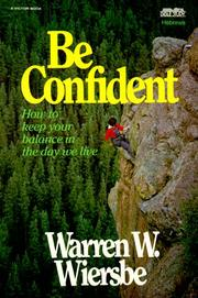 Cover of: Be Confident (Be)