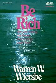 Cover of: Be Rich (Be)