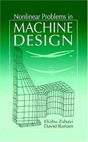Cover of: Nonlinear Problems in Machine Design