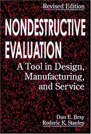Cover of: Nondestructive Evaluation