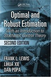 Cover of: Optimal and robust estimation