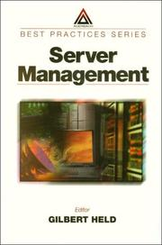 Cover of: Server Management (Best Practices Series (Boca Raton, Fla.).)