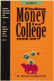 Cover of: Bears' Guide to Finding Money for College 1998-1999 (Serial)