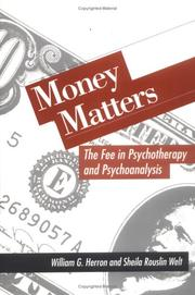 Cover of: Money Matters