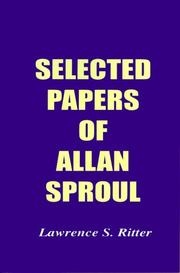 Cover of: Selected Papers of Allan Sproul