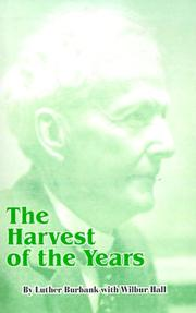 Cover of: The Harvest of the Years
