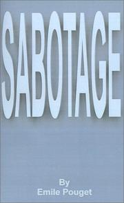 Cover of: Sabotage