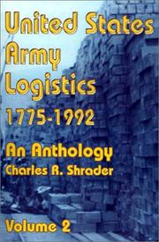 Cover of: United States Army Logistics, 1775-1992