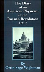 Cover of: The Diary of an American Physician in the Russian Revolution 1917
