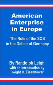 Cover of: American Enterprise in Europe