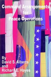 Cover of: Command Arrangements for Peace Operations