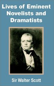 Cover of: Lives of eminent novelists and dramatists