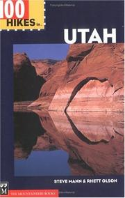Cover of: 100 Hikes in Utah