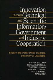 Cover of: Innovation Through Technical and Scientific Information