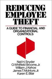 Cover of: Reducing Employee Theft