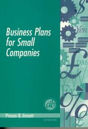 Cover of: Business Plans for Small Companies