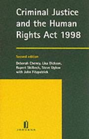 Cover of: Criminal Justice and the Human Rights Act 1998