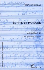 Cover of: Ecrits et paroles