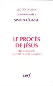 Cover of: Le procès de Jésus
