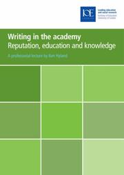 Cover of: Writing in the Academy
