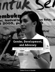 Cover of: Gender, development, and advocacy