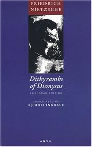 Cover of: Dithyrambs of Dionysus: Dionysos-Dithyramben