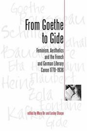 Cover of: From Goethe to Gide