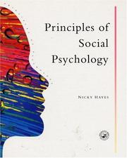 Cover of: Principles Of Social Psychology (Principles of Psychology)