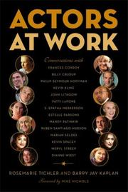 Cover of: Actors at Work